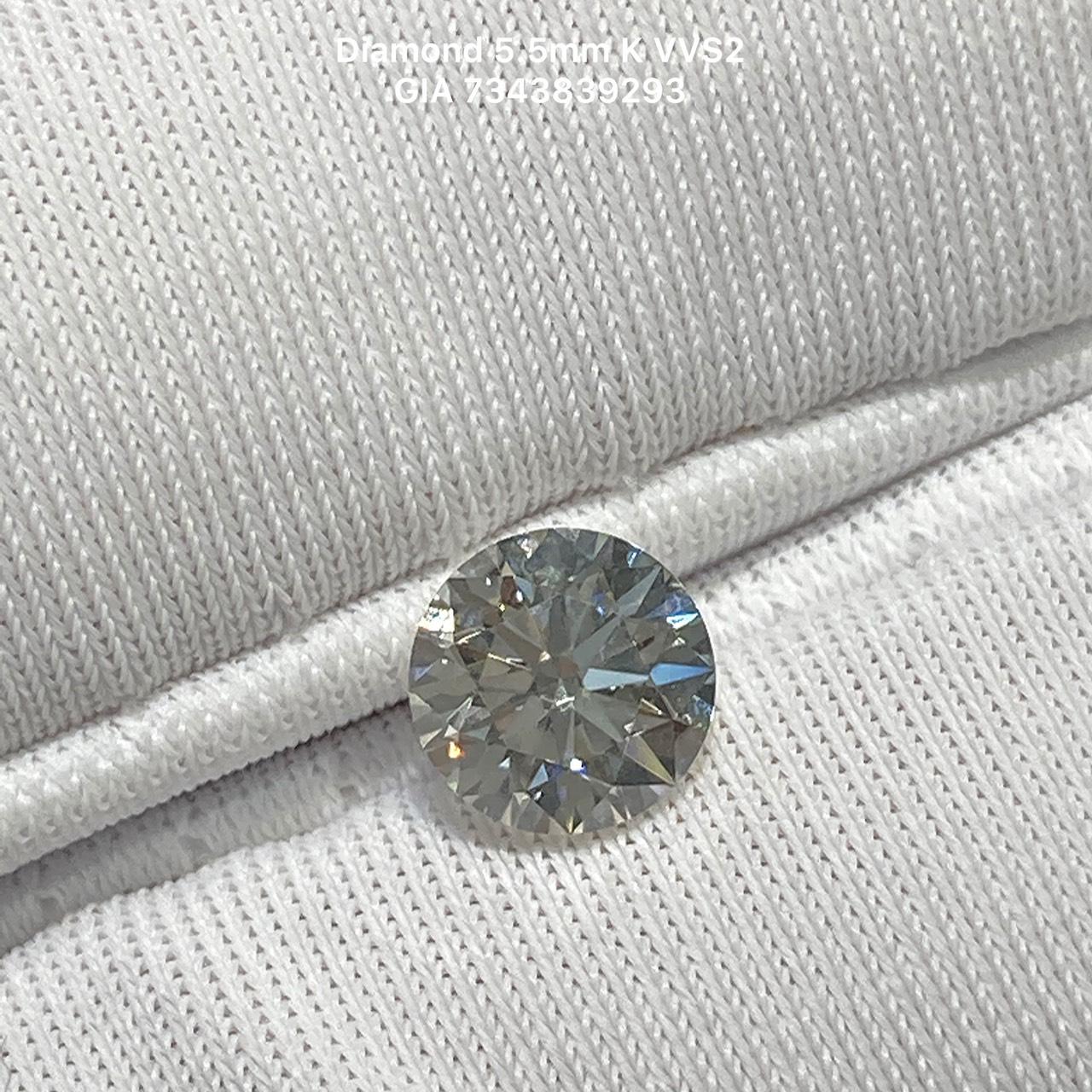 [ Hết Hàng] Kim cương thiên nhiên 5.5mm K VVS2 3EX FAINT kiểm định quốc tế GIA mã số cạnh 7343839293- LUCYJEWELRY