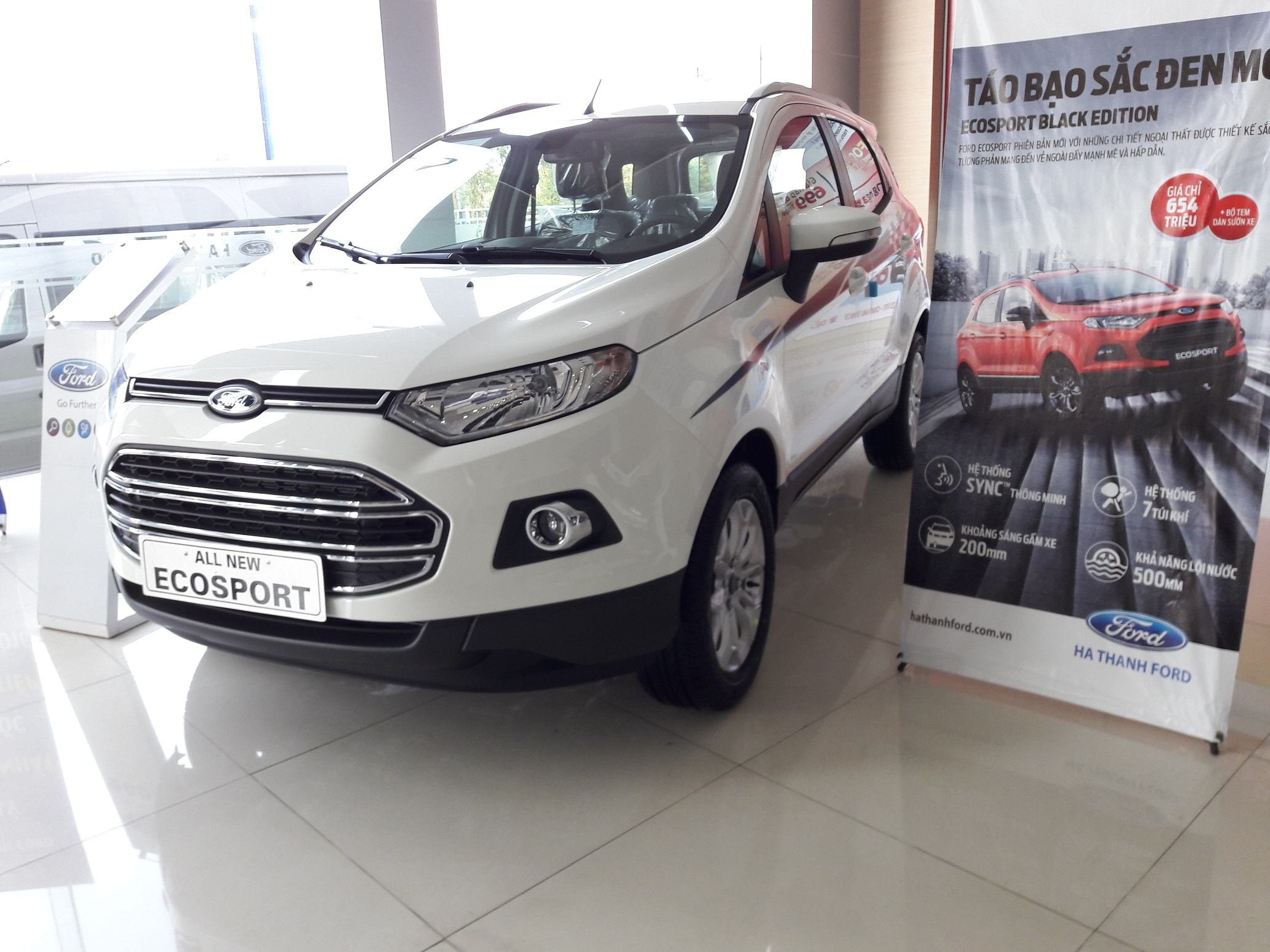 xe-ford-ecosport-titanium-mau-trắng