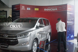 OKIA with the launching event of Toyota Innova 2016