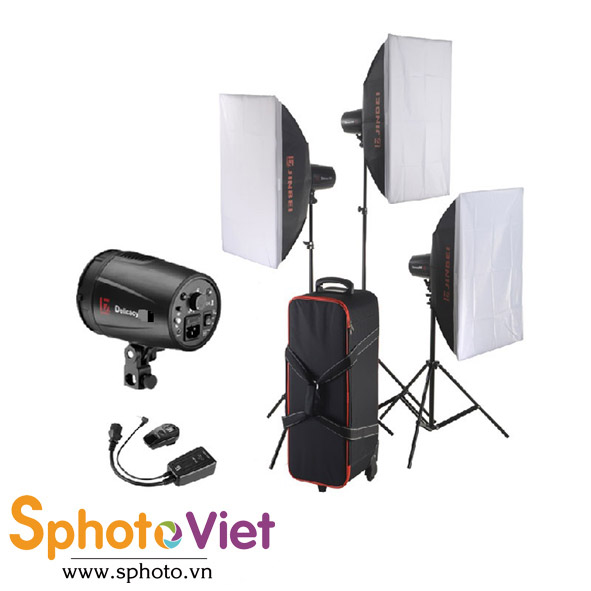 Bộ đèn Flash studio Jinbei D250 Kit 3