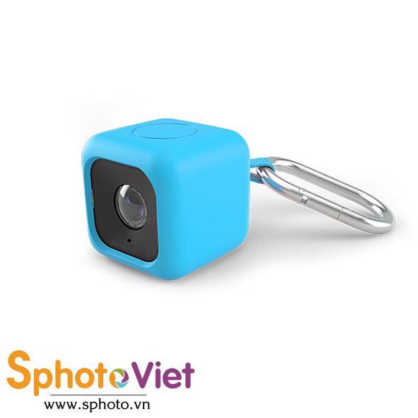 Bọc cao su đựng máy quay Polaroid Cube - Bumper Case (Xanh)