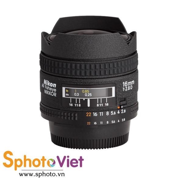 Ống kính Nikon AF Fisheye 16mm f/2.8D (Chính hãng)
