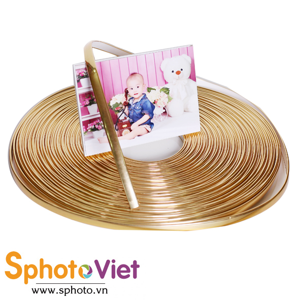 Nẹp MDF vàng gold 9mm
