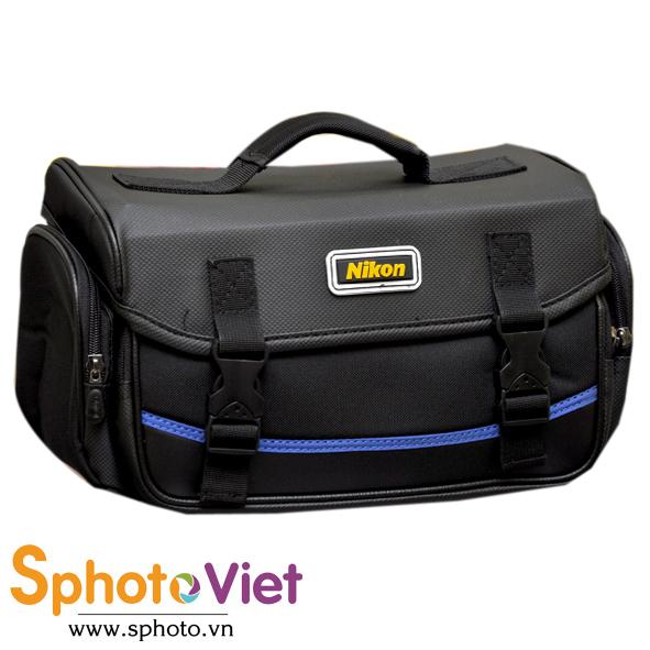 Túi máy ảnh sọc xanh Nikon Size L