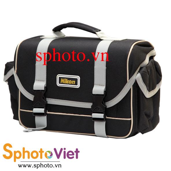 Túi máy ảnh viền kem Nikon