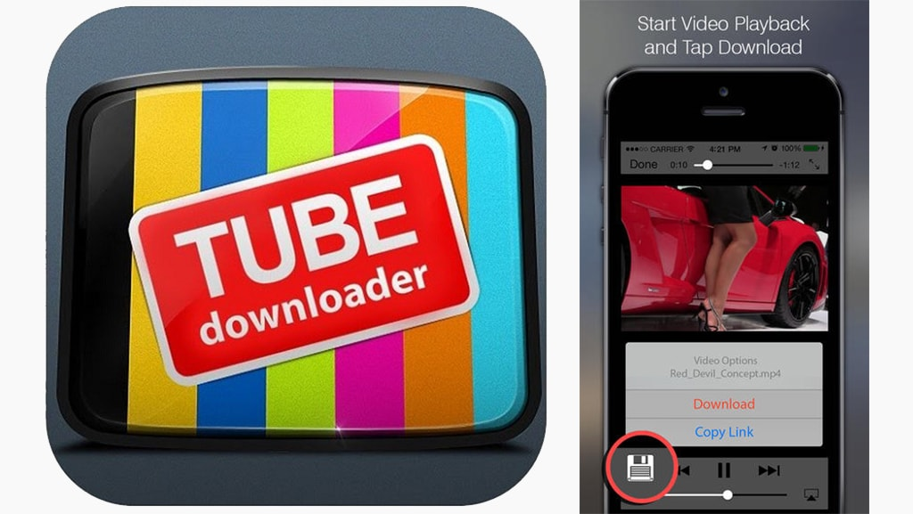 download youtube videos iphone: Tube Dowloader Free