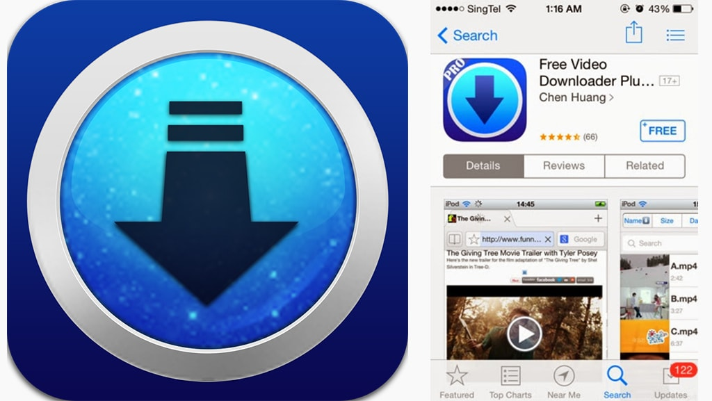 Free video dowloader iOS Plus:Ứng dụng tải video trên iPhone
