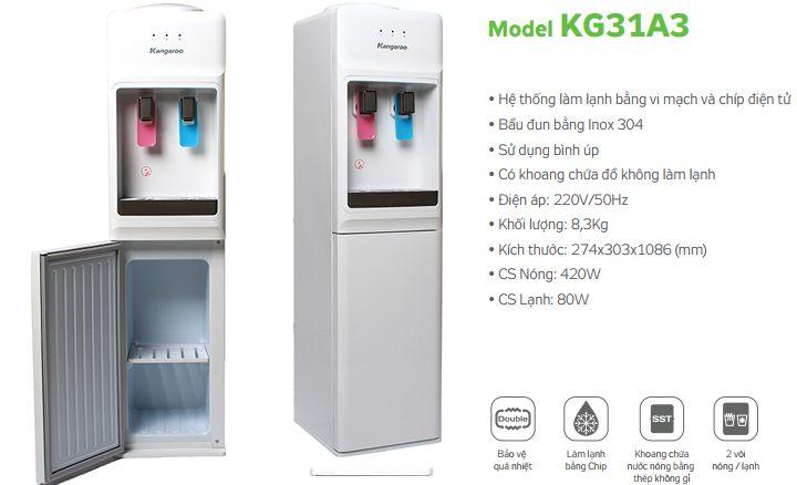 tính năng cây nước nóng lạnh Kangaroo KG31A3