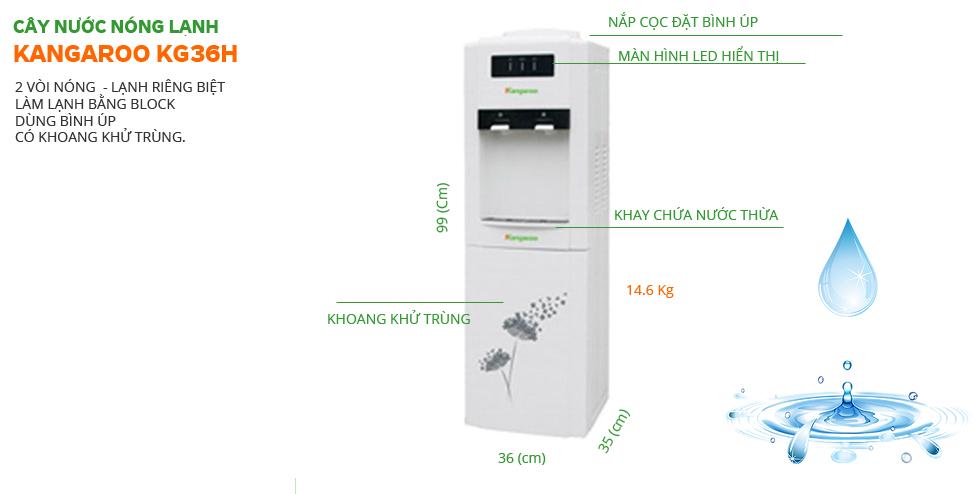 Cây nước nóng lạnh Kangaroo KG36H