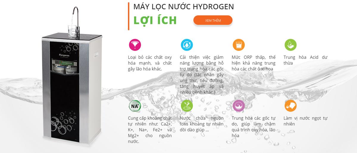 Lợi ích khi sử dụng Máy lọc nước Kangaroo Hydrogen