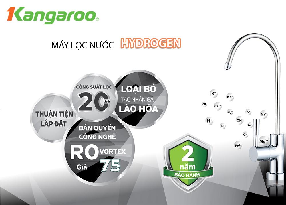 Tính năng dòng máy lọc nước kangaroo hydrogen