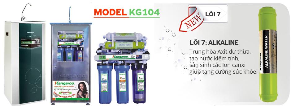Máy lọc nước Kangaroo KG104 vỏ VTU, vỏ Inox và không vỏ