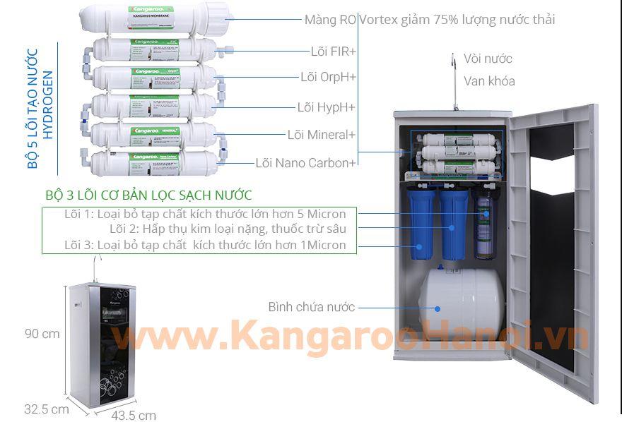 sơ đồ Máy lọc nước Kangaroo Hydrogen KG100HQ