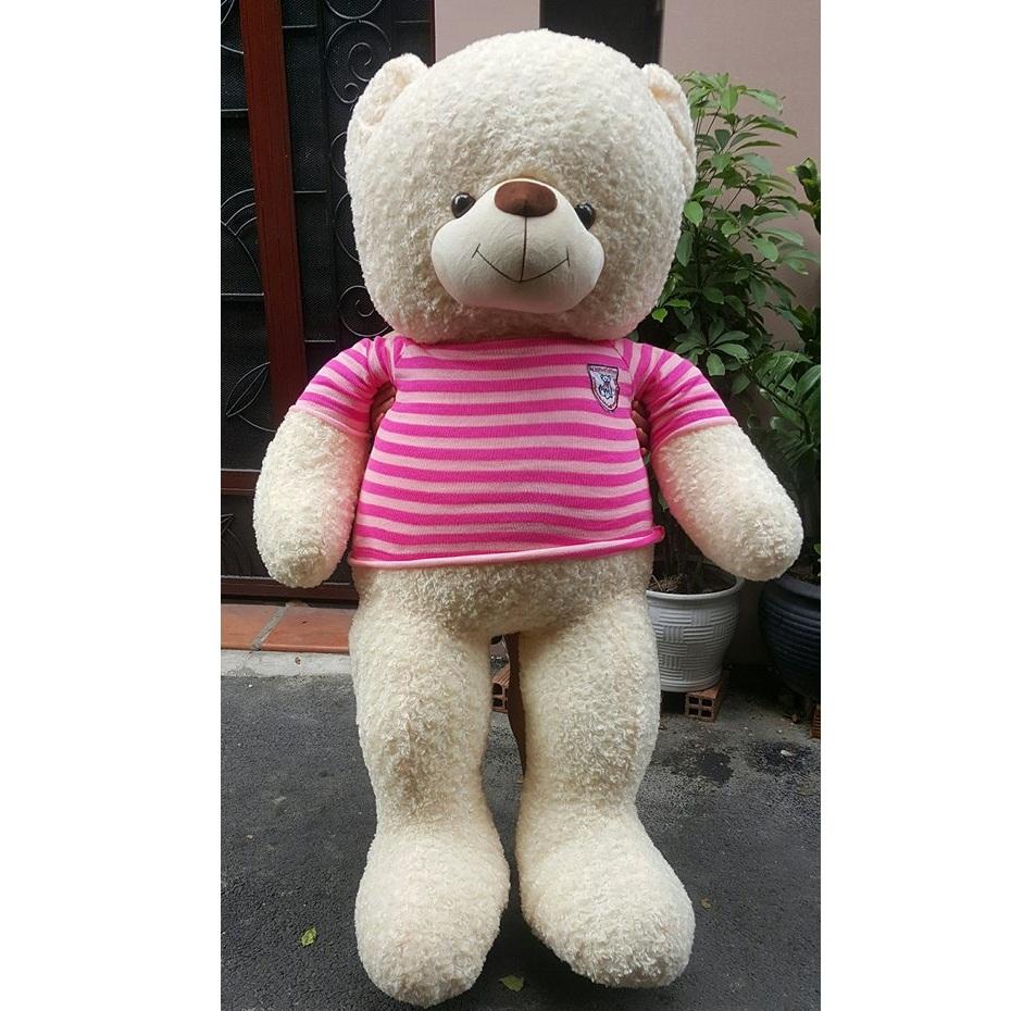 Gấu Teddy trắng lông xoắn 1m8