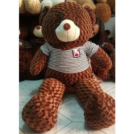 Gấu teddy áo thun lông xoắn hoa hồng
