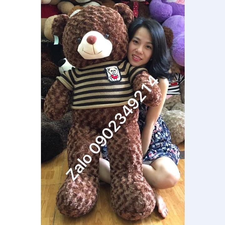 Gấu bông lớn áo len cực xinh 01