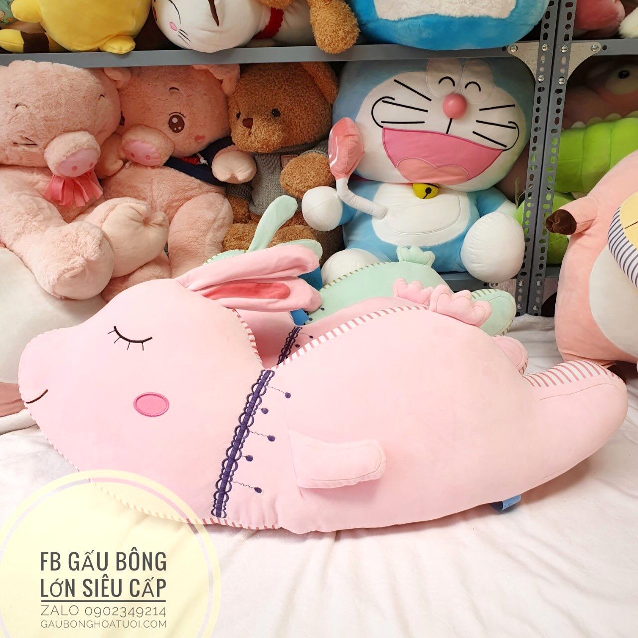 Thỏ bông thiên thần màu hồng