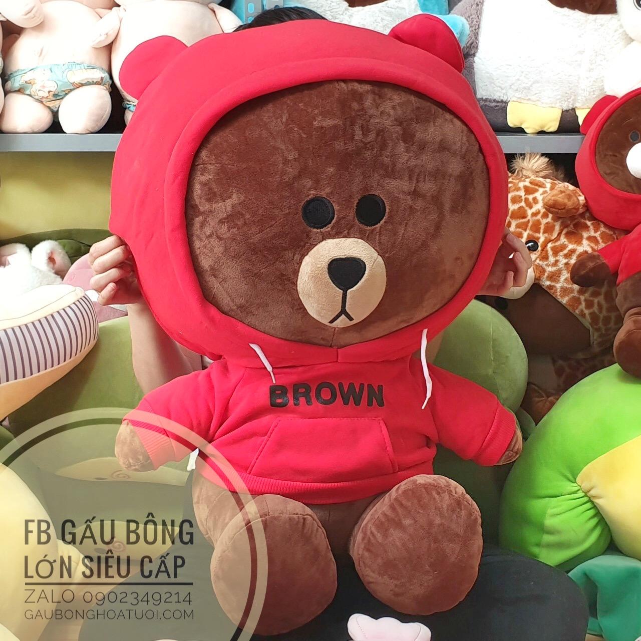 Gấu brown nâu áo hoodie