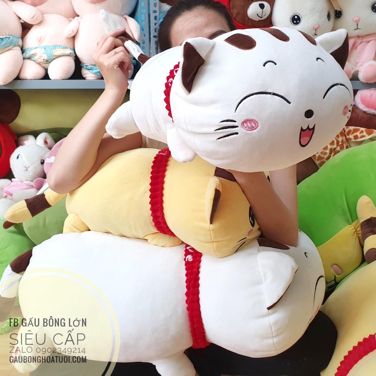 Mèo bông xinh xắn màu trắng