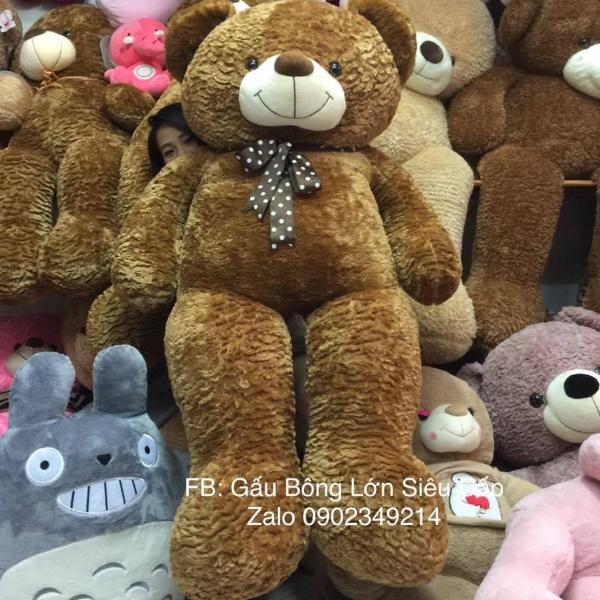 Gấu Teddy Nâu Nơ 1m8