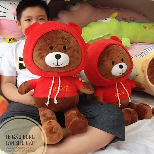 Gấu bông Brown hoodie xinh