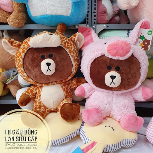Gấu Brown Heo bông màu hồng