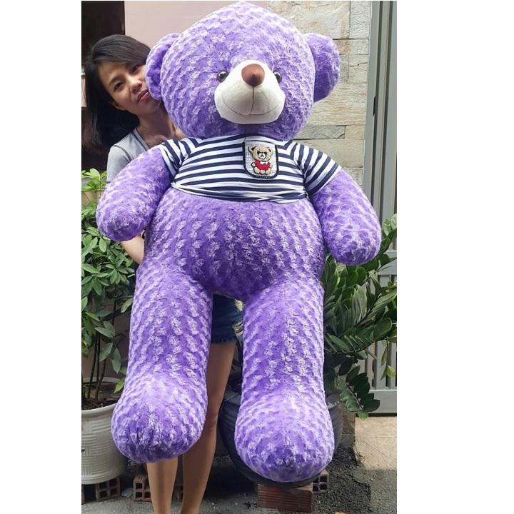 Gấu bông màu tím đẹp 01