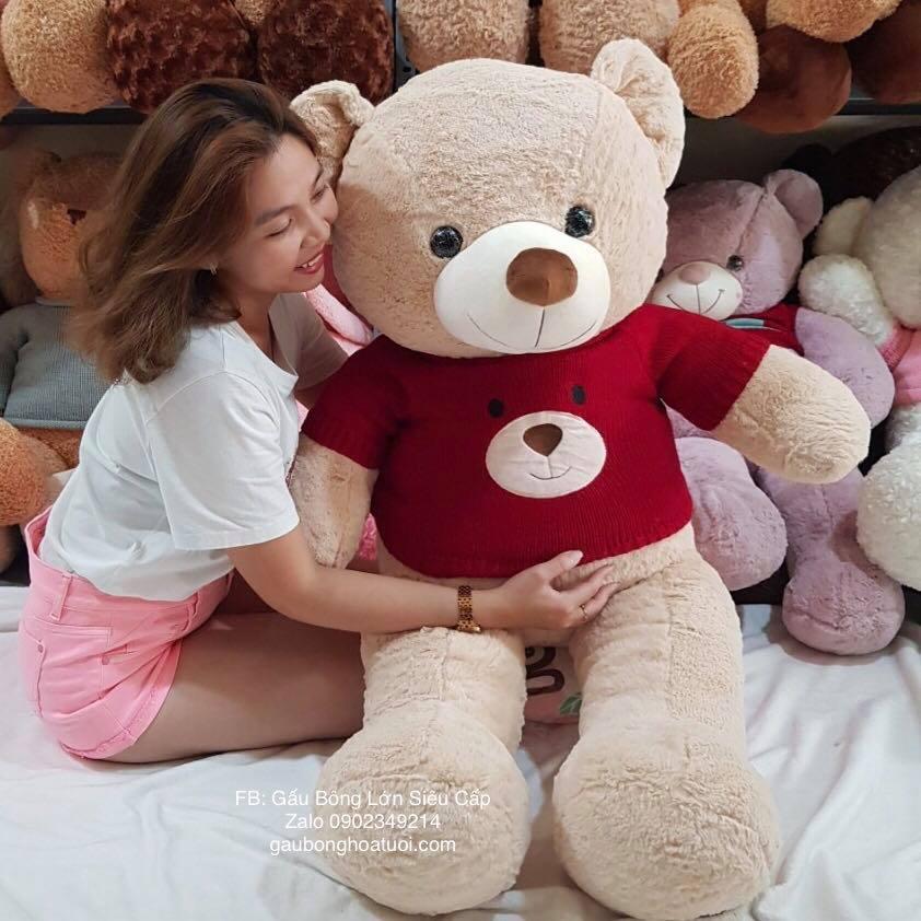 Gấu bông lông mịn 1m5