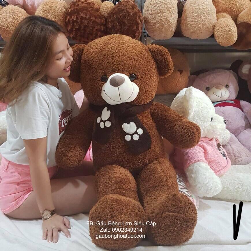 Gấu teddy lông xù ngoại nhập 1m4
