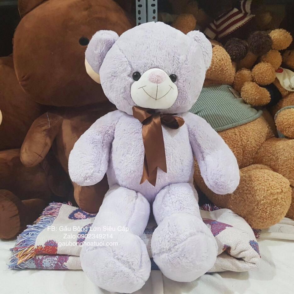 gấu bông màu tím 1m2