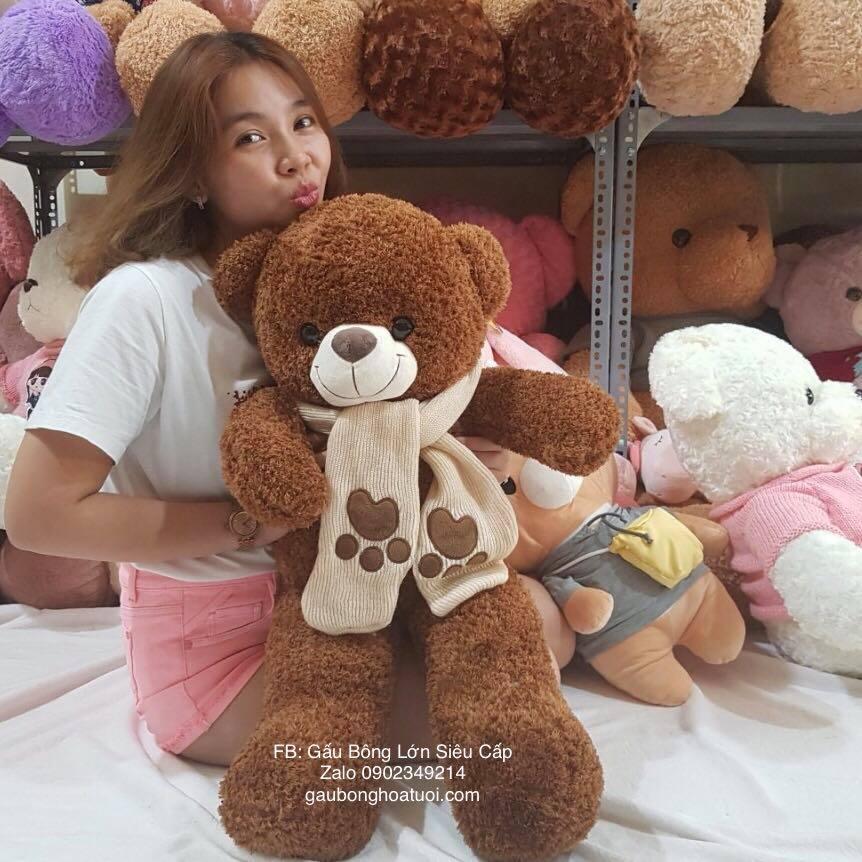 Gấu teddy lông xù ngoại nhập 1m