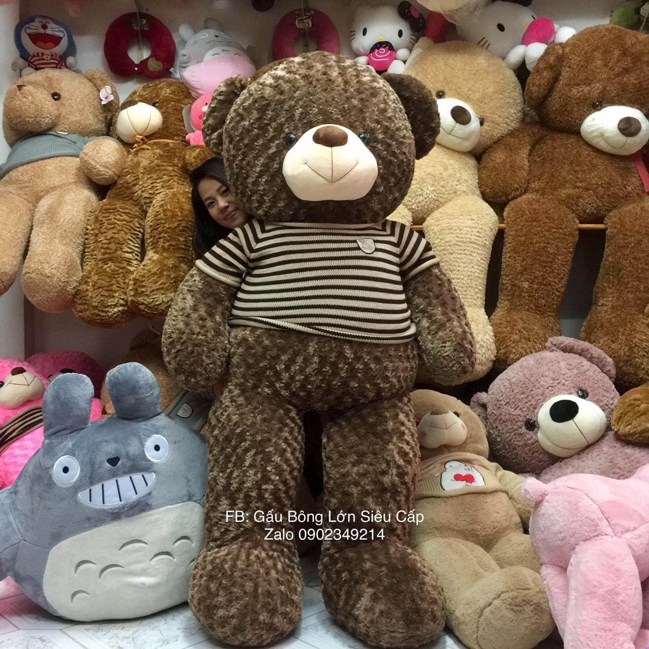 Gấu bông lông xoắn Socola 1m2