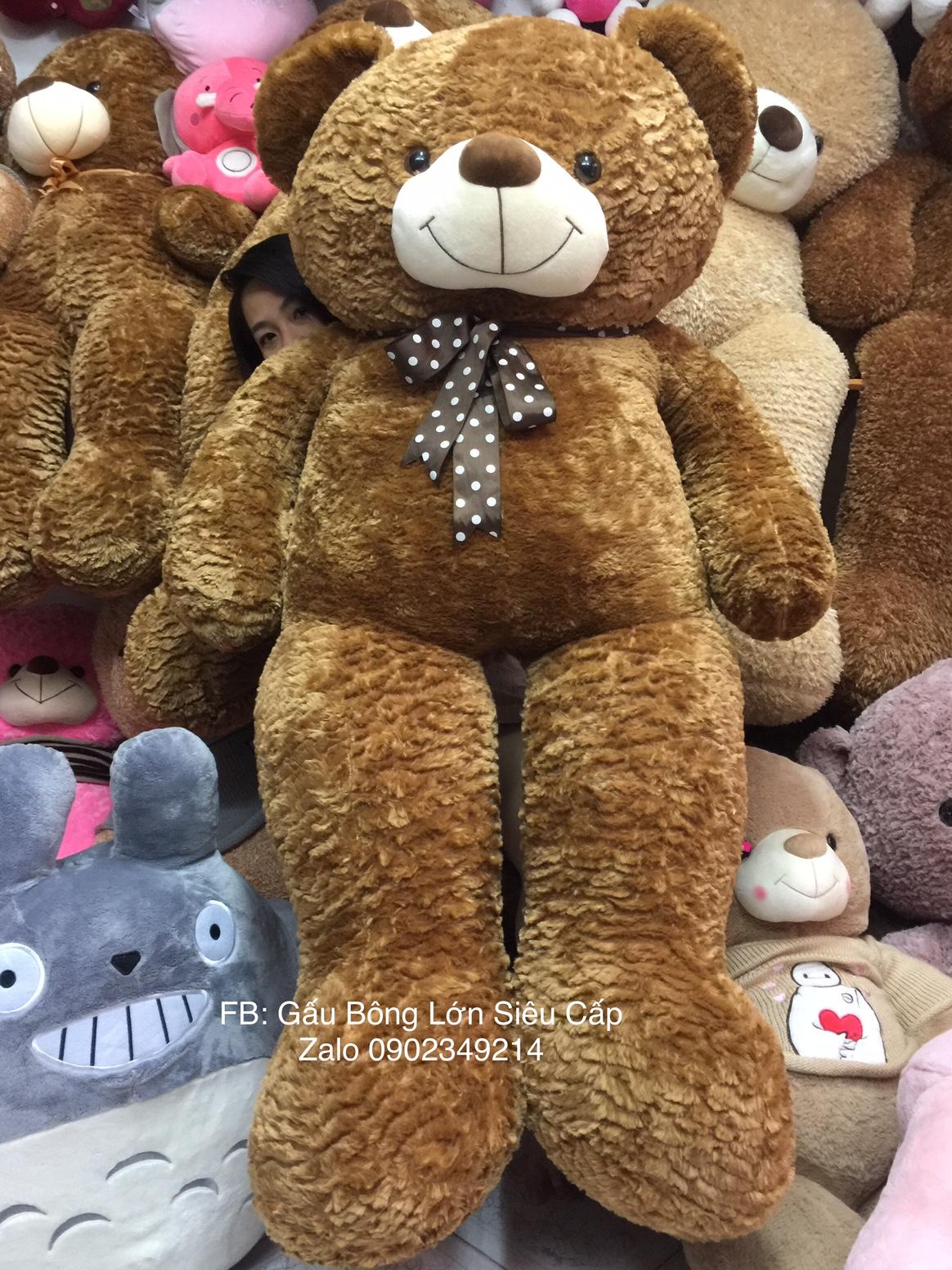 Gấu Teddy Nâu Choco lông xù 1m8