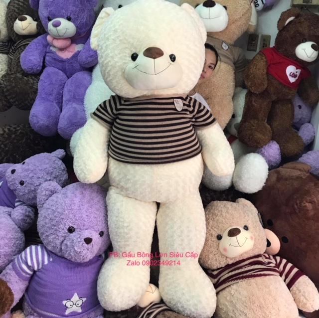Gấu bông trắng cao cấp 1m8