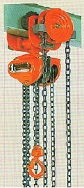 SUPER-100 Series Manual Chain Hoists Specifications (With Geared Trolley)