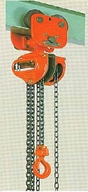 SUPER-100 Series Manual Chain Hoists Specifications (With Plain Trolley)