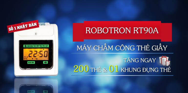 Máy chấm công thẻ giấy Robotron thương hiệu số 1 từ Nhật Bản
