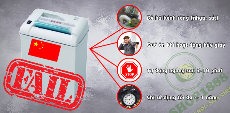 Bạn có nghĩ rằng Bạn sẽ lựa chọn máy hủy giấy Trung Quốc nữa không?