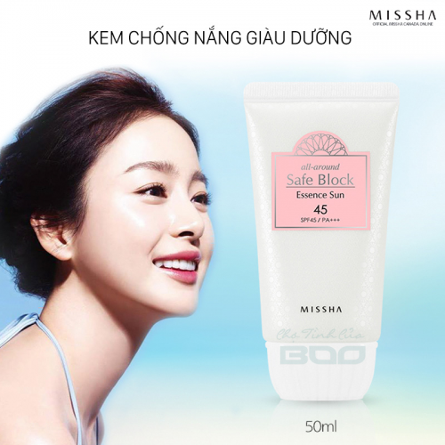 REVIEW: Kem chống nắng MISSHA All Around Safe Block Essence Sun SPF45/PA+++