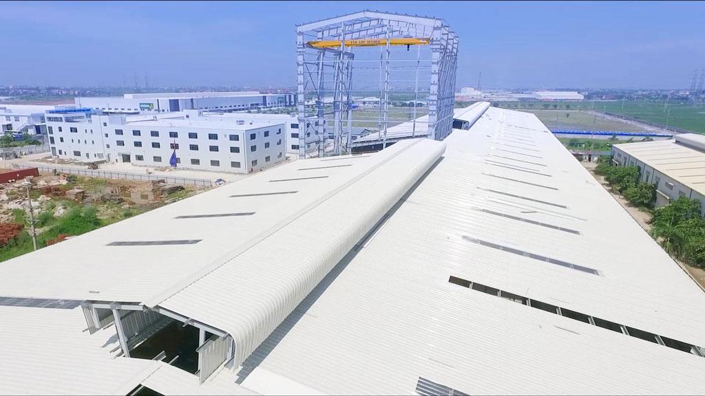 Mái tôn nhà máy Olympic