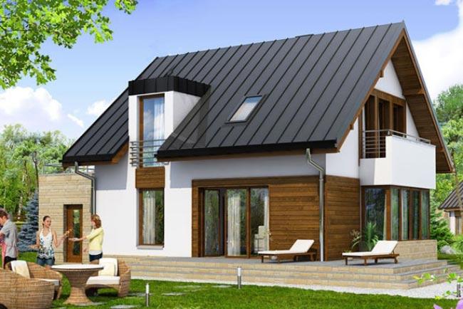 Kiến trúc nhà hiện đại mái tôn cách nhiệt