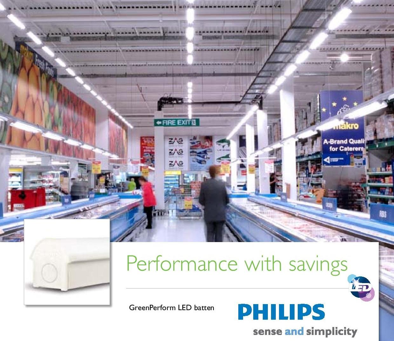 bộ máng đèn LED T8 Philips liền thân lắp trực tiếp