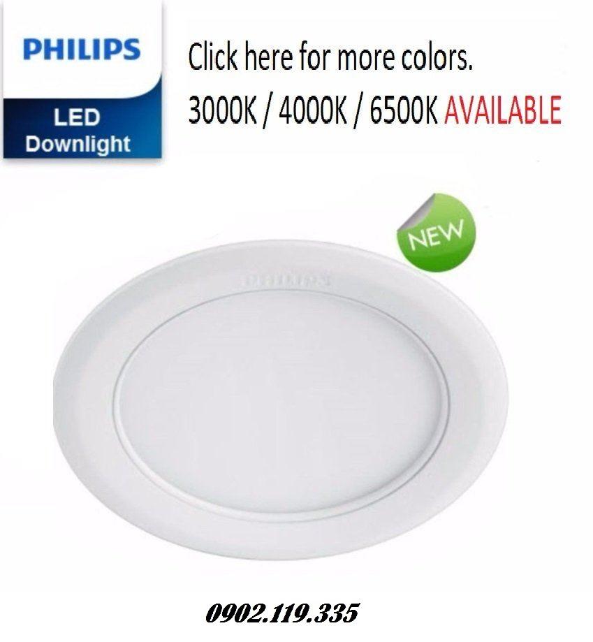 đèn downlight led âm trần philips kiểu tròn mẫu mã đẹp