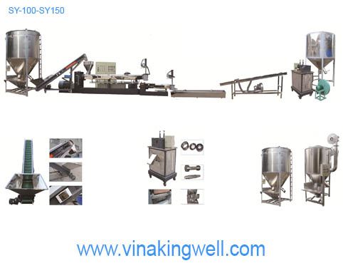 Máy tạo hạt nhựa SY100-150