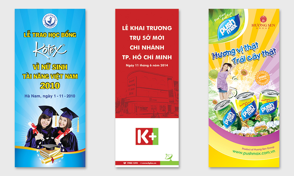 Thiết Kế BANNER, STANDEE