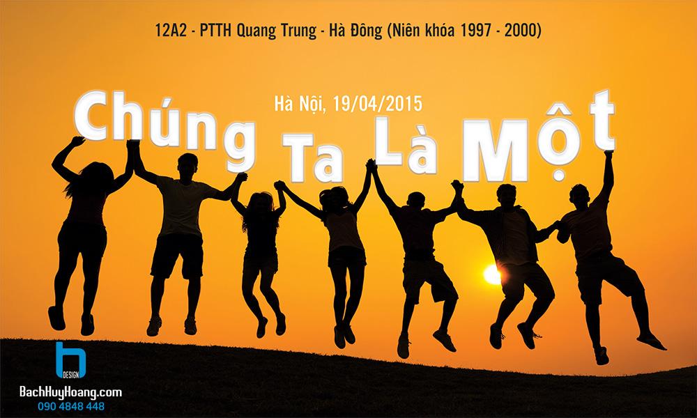 Thiết Kế Backdrop - Phông Sân Khấu - HỌP LỚP 12A2 PTTH QUANG TRUNG