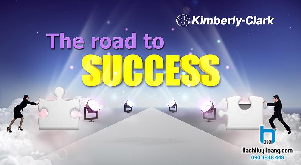 Thiết Kế Backdrop - Phông Sân Khấu - The Road To Success