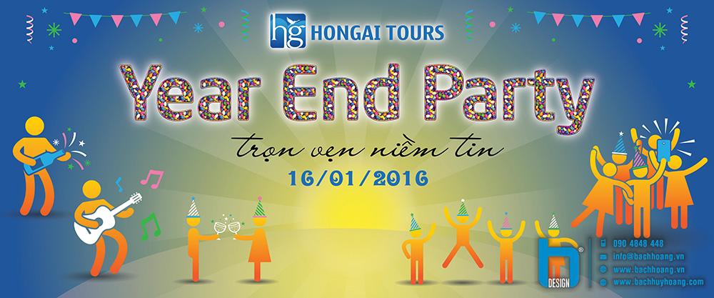 Backdrop Year End Party - Hon Gai Tour