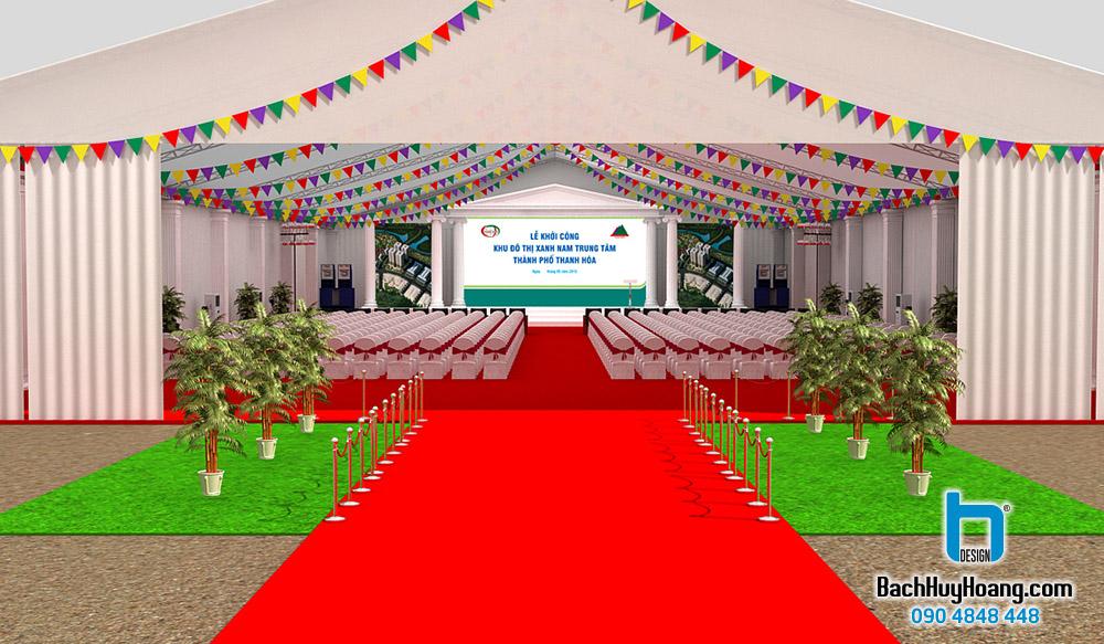 Thiết kế Lễ Khởi Công - Khu Đô Thi Xanh Nam Trung Tâm Thành Phố Thanh Hóa