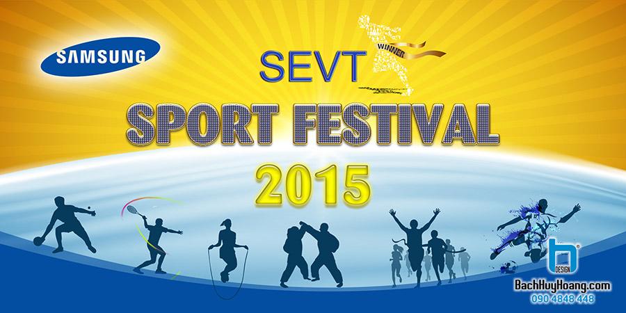Thiết Kế Backdrop - Phông Sân Khấu - SEVT Sport Festival